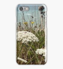 Flowers and sea iPhone Case/Skin