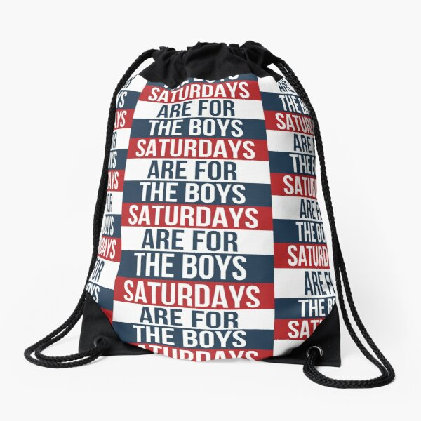 SATURDAYS ARE FOR THE BOYS Drawstring Bag