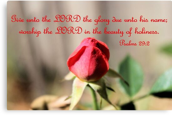 Worship the Lord in the beauty of Holiness by aprilann