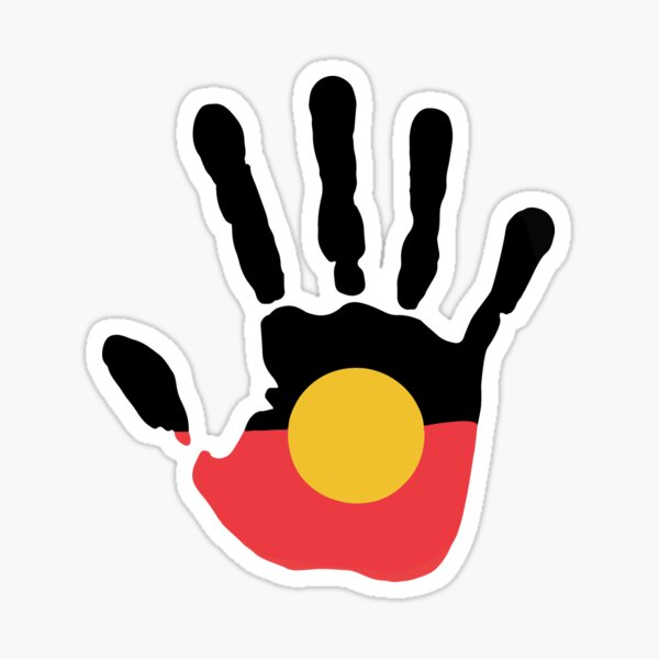 Aboriginal Flag Aboriginal Lives Matter Sticker