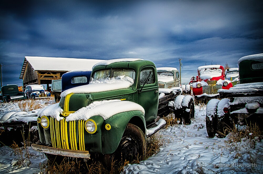 Old Trucks in HDR by peaceofthenorth