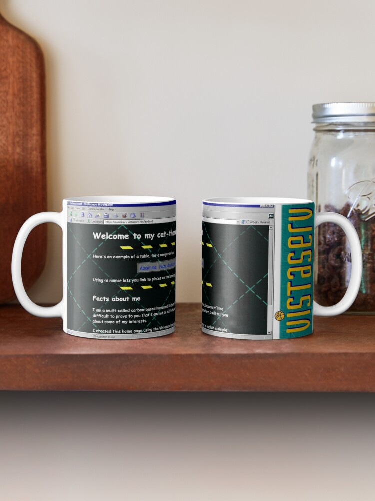 A mug with a screenshot of asdasd's home page on it
