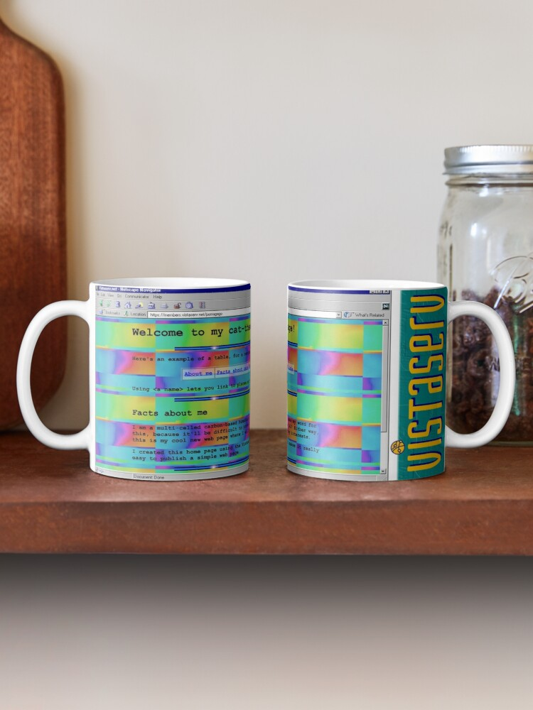 A mug with a screenshot of pomagago's home page on it