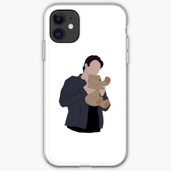 Damon and teddy bear iPhone Soft Case