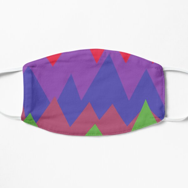 Mountains of colorful shapes Mask