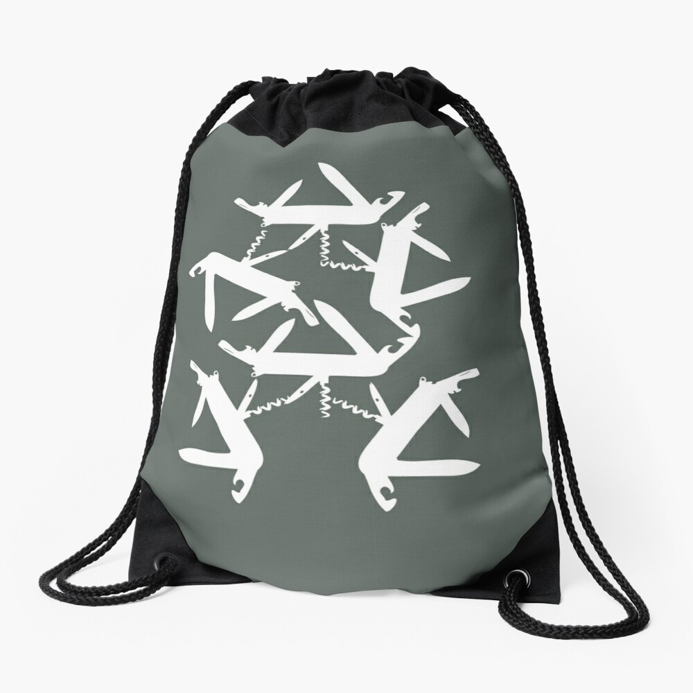 swiss knife Drawstring Bag