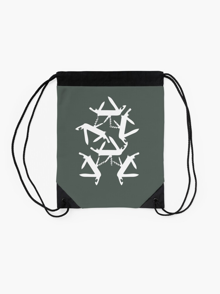 Alternate view of swiss knife Drawstring Bag
