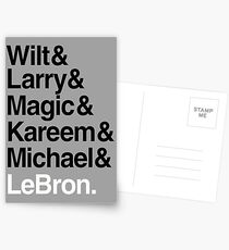 best players all the times. ( basketball ) Postcards