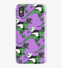 Jurassic Panda Logo Print iPhone Case