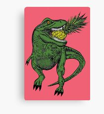 Dinosaur Pineapple Canvas Print