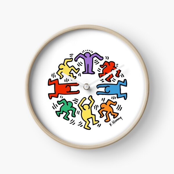 Keith Haring heart Clock