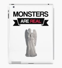 monsters are real (weeping angel version 1) iPad Case/Skin