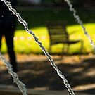 Fountain water in a park  by hpostant