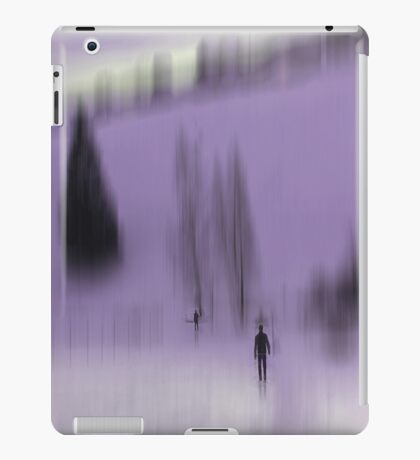 Winter Walk (violet), Fischbacher Alps, Austria iPad Case/Skin