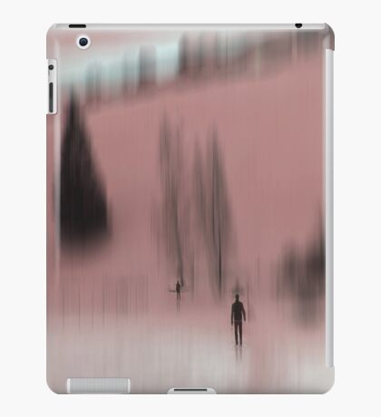 Winter Walk (red), Fischbacher Alps, Austria iPad Case/Skin
