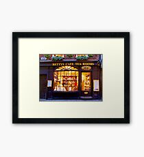 Bettys Tea Room - Stonegate York Framed Print