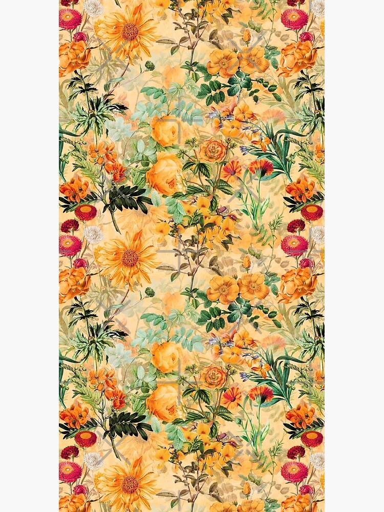 Vintage Botanical Golden Summer Day Garden  by UtArt