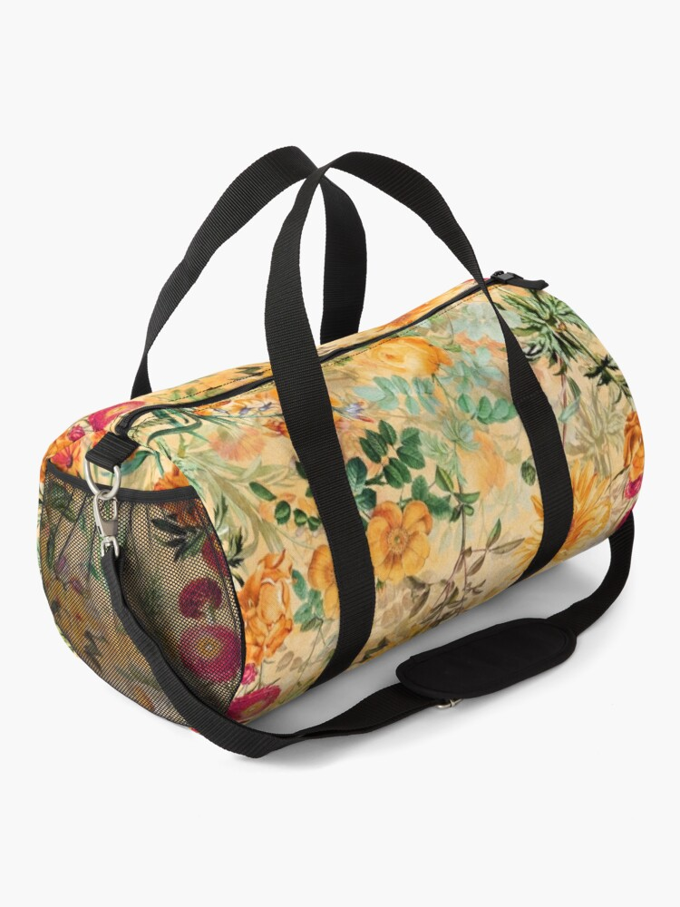 Alternate view of  Vintage Botanical Golden Summer Day Garden  Duffle Bag