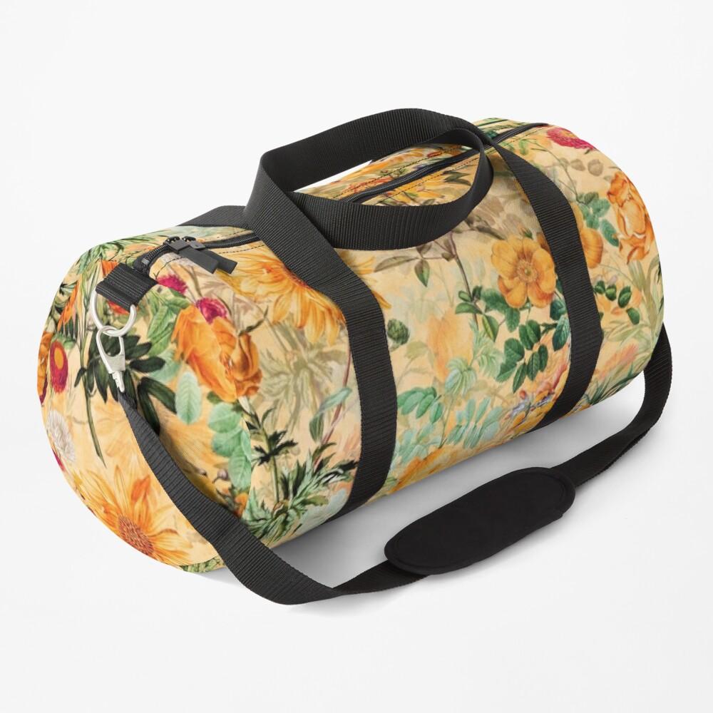 Vintage Botanical Golden Summer Day Garden  Duffle Bag