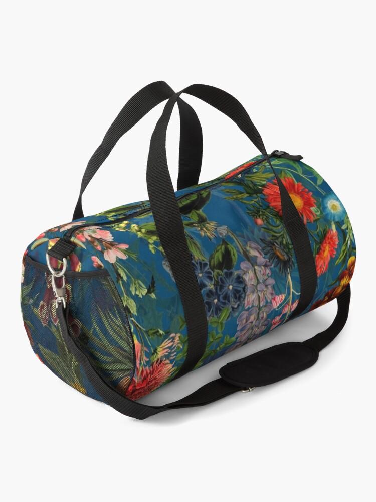 Alternate view of Vintage Blue Springflower Meadow Night Duffle Bag