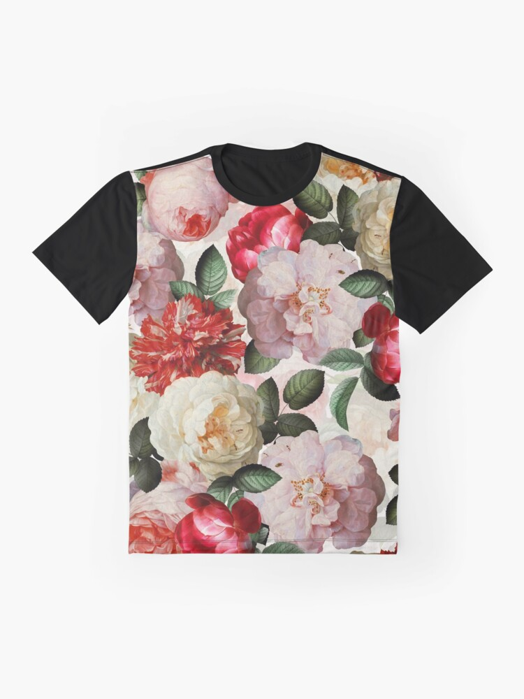 Alternate view of Antique Jan Davidsz. de Heem Lush Roses Flowers shiny colors Pattern Graphic T-Shirt