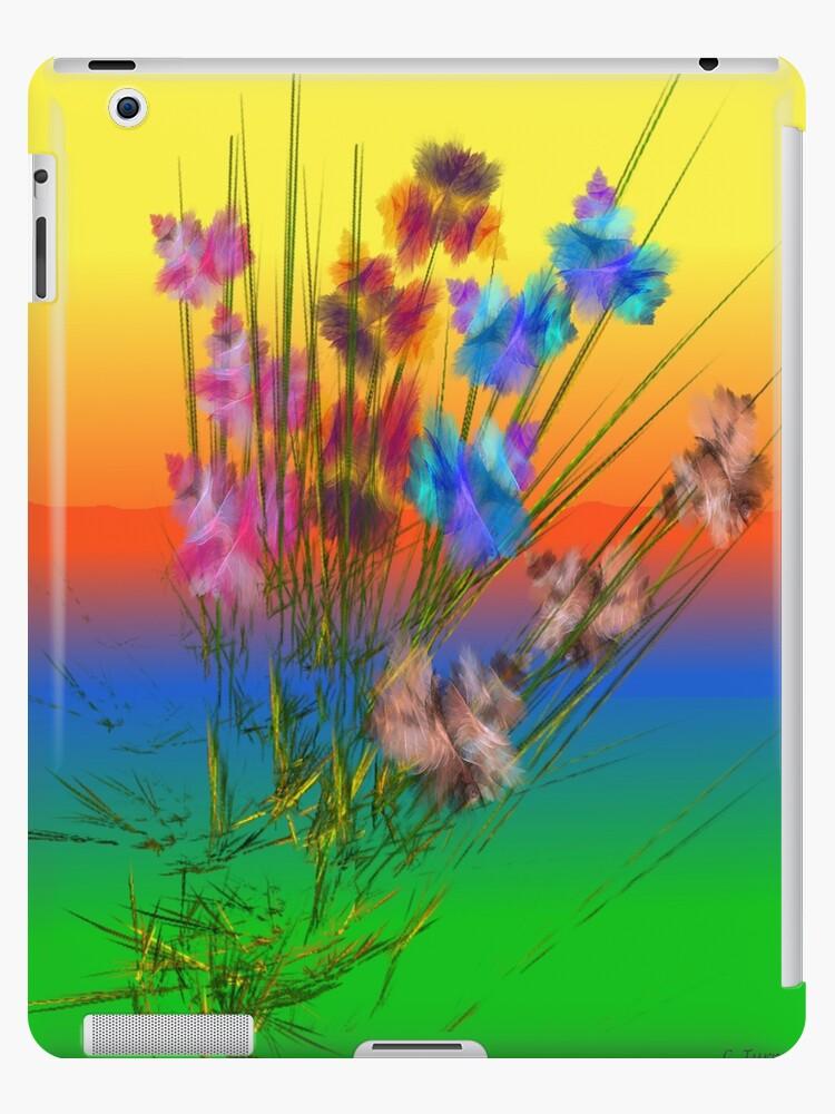 Patch Of Iris IPad case by CarmanTurner
