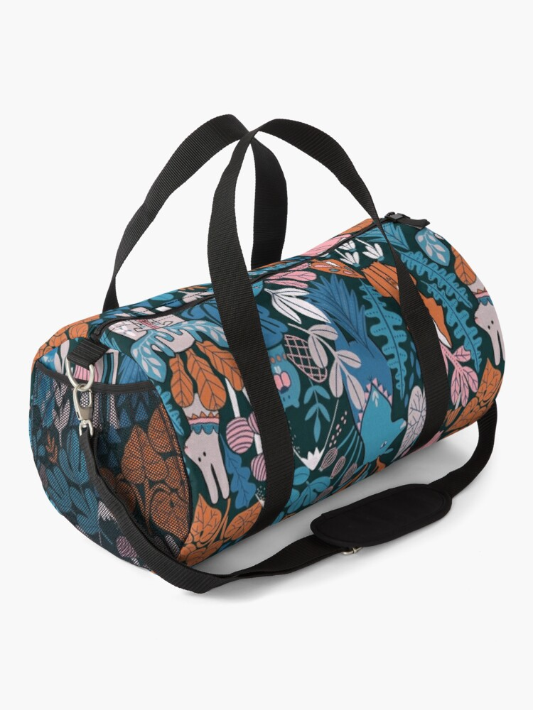 Alternate view of Animals of Canada. Forest, plants, mountains, mushrooms Duffle Bag