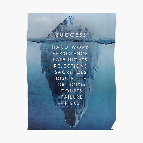 Success Iceburg Poster  Poster