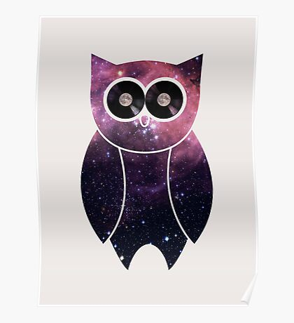 Owl Night Long Poster