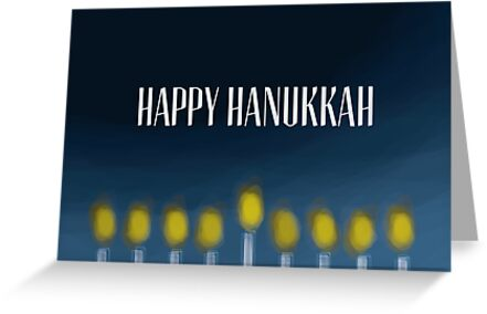 Menorah - Hanukkah Card by charliesheets