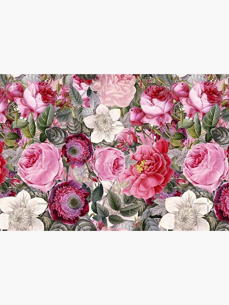 Vintage Pink Floral Pattern  by UtArt