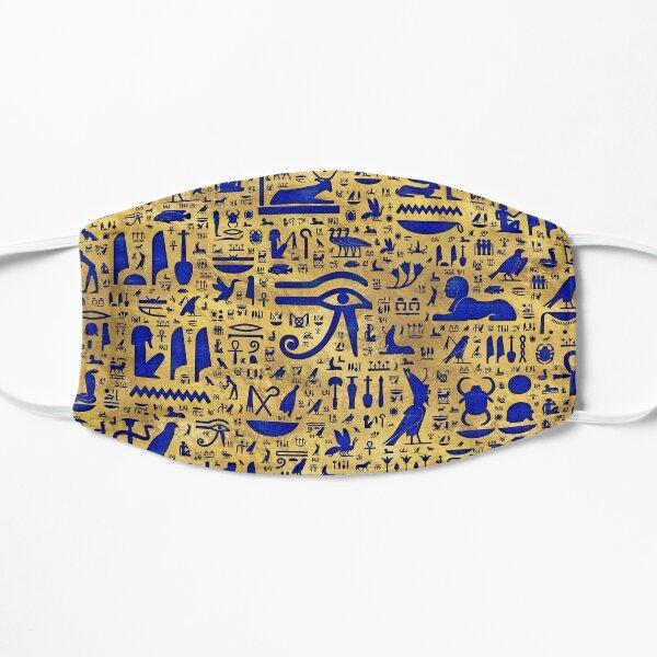 Lapis Lazuli hiéroglyphique égyptien et or Masque sans plis