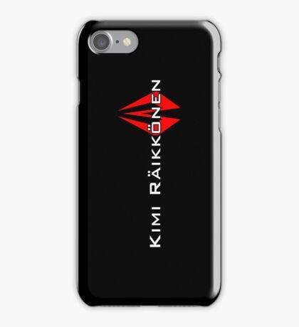 Kimi Raikkonen (Helmet Colours) iPhone Case/Skin