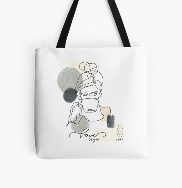 One Lina Art , Coffee Allover-Print Tote Bag