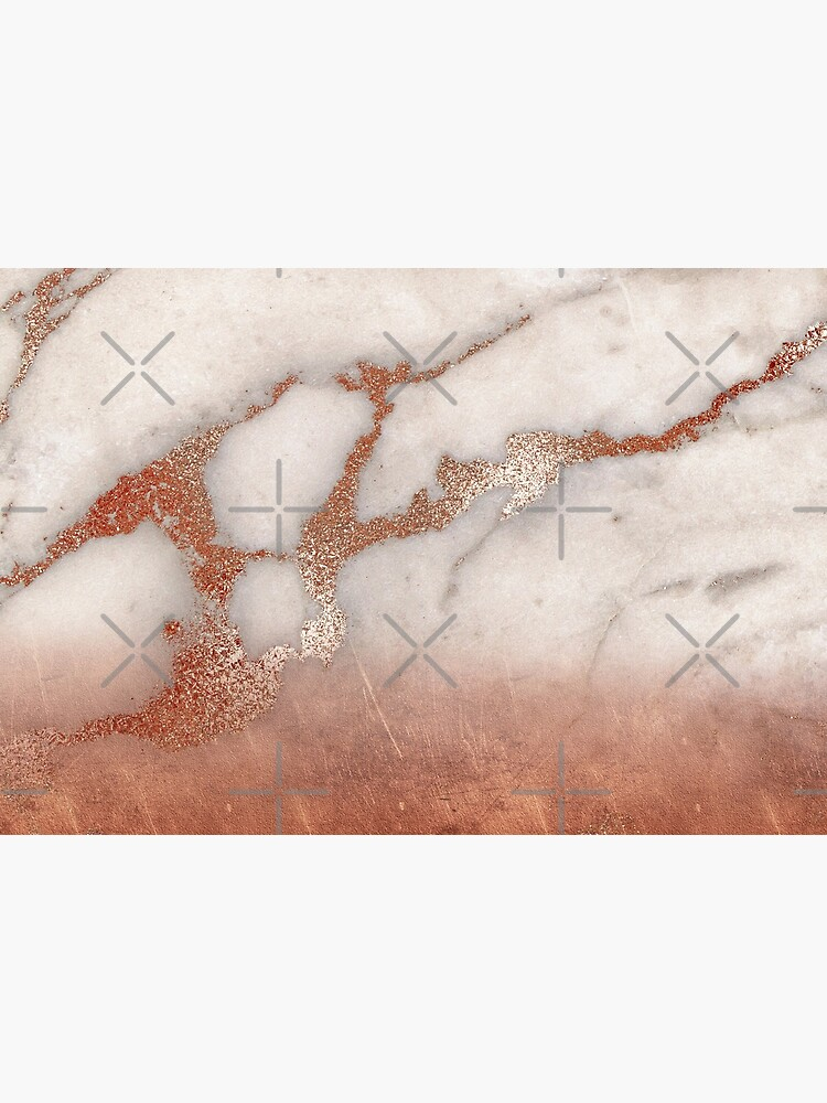 Copper Bronze Metal Foil Sparkle Faux Marble by MysticMarble
