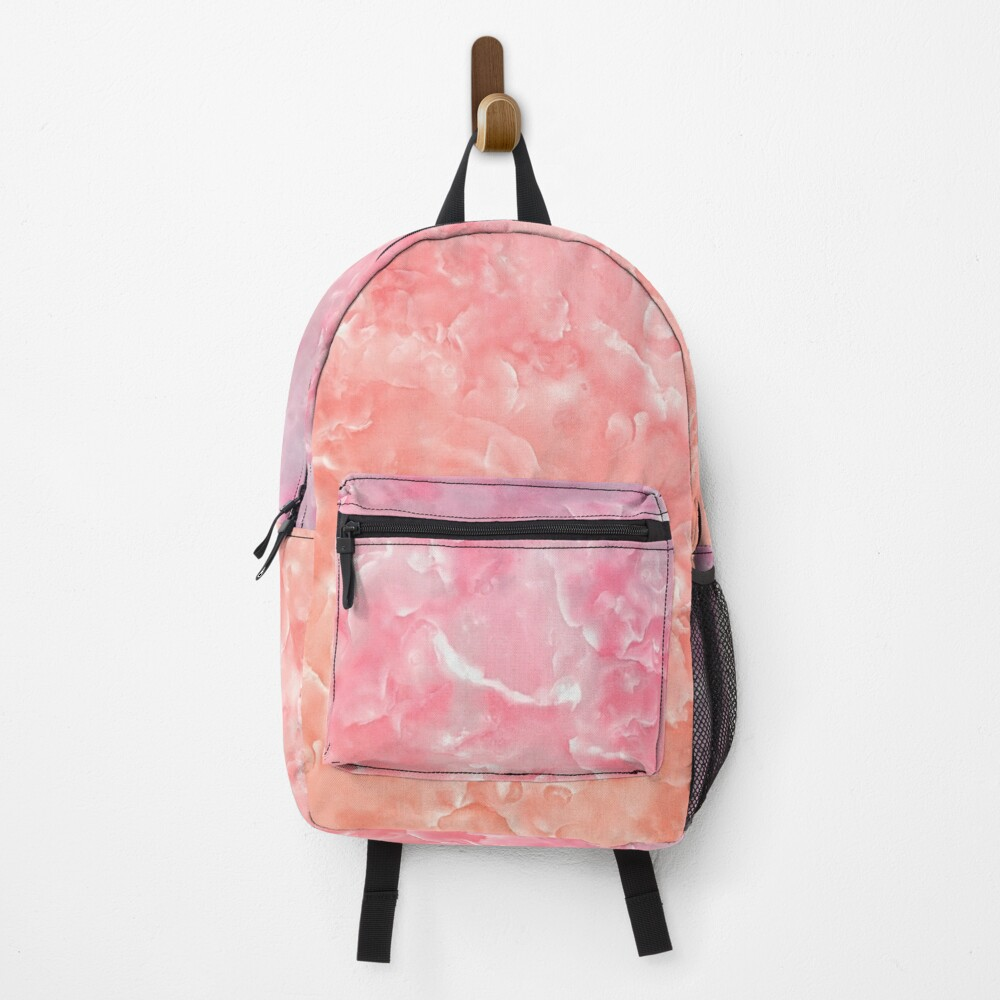 Rose Gold Blush Agate Marble Geode Gem Backpack
