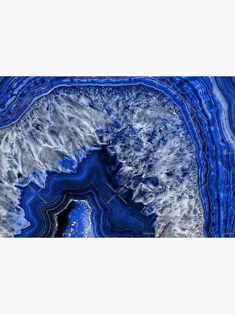 Ocean Blue Agate Mineral Gemstone by MysticMarble