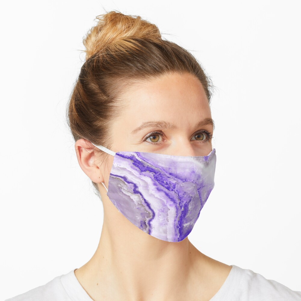 Ultraviolet and Gray Agate Mineral Gemstone Mask