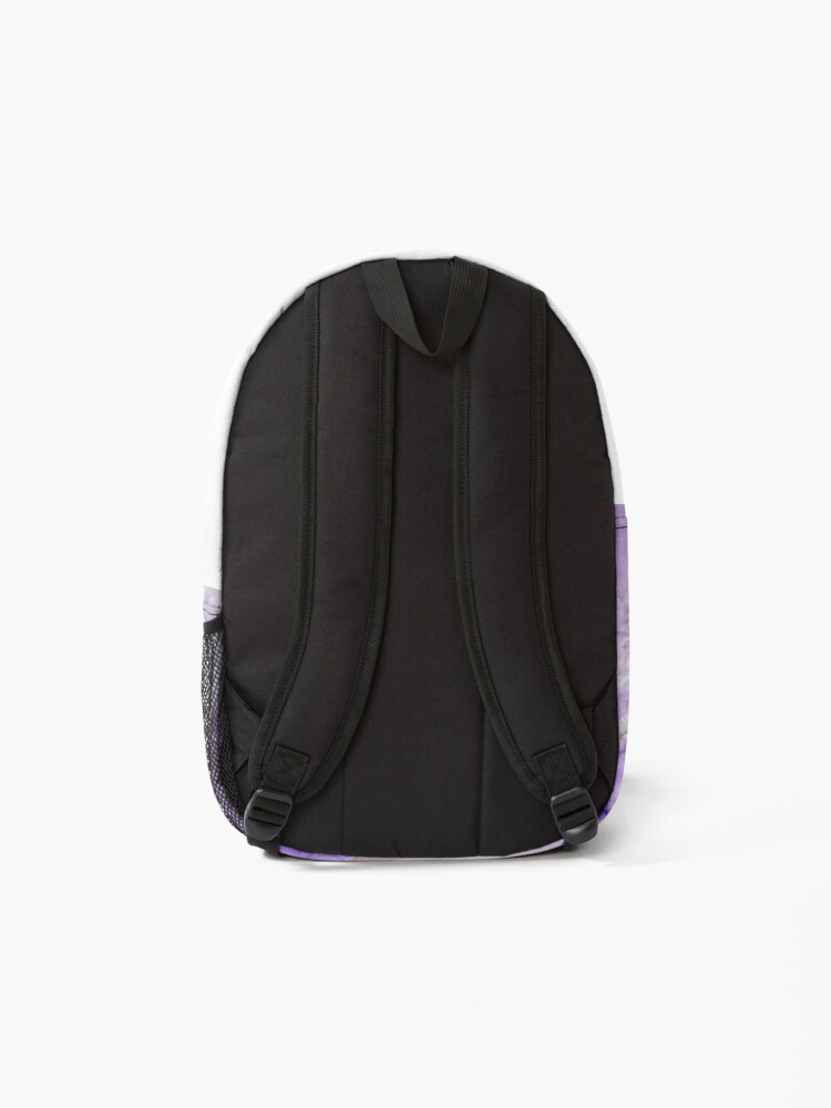 Alternate view of Ultraviolet and Gray Agate Mineral Gemstone Backpack