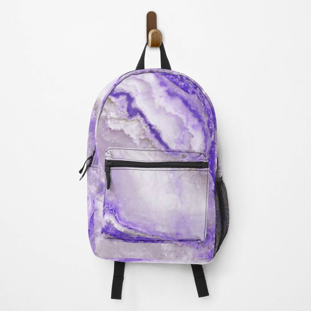 Ultraviolet and Gray Agate Mineral Gemstone Backpack