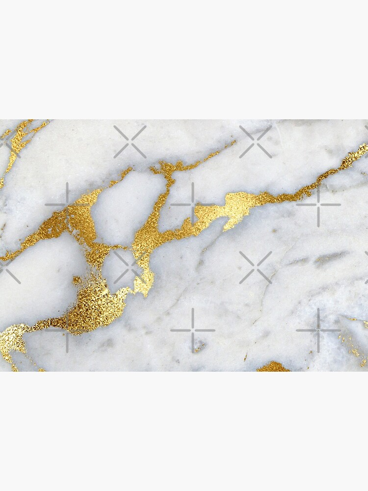 Gold Sparkle Veined Marble by MysticMarble