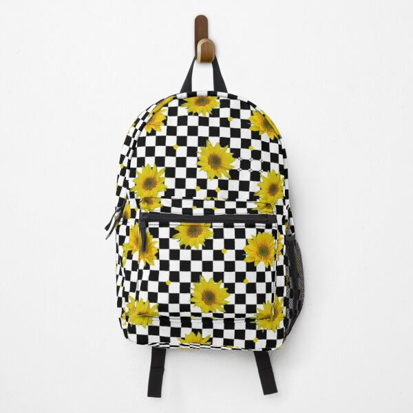 Sunflowers on Checkered Squares Backpack