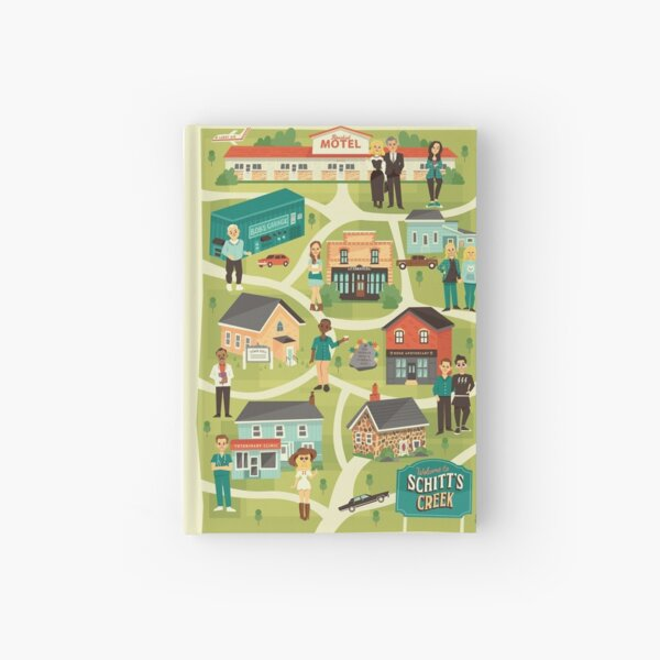Town map Hardcover Journal