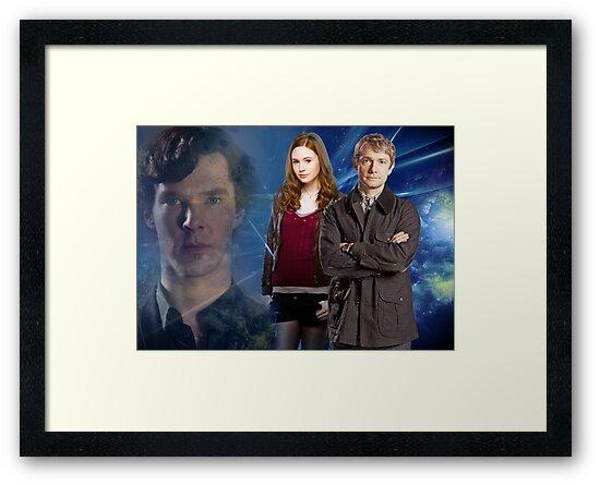 Sherlock,Amy and John by drawingdream