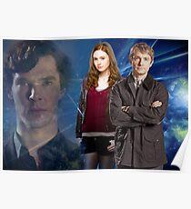 Sherlock,Amy and John Poster