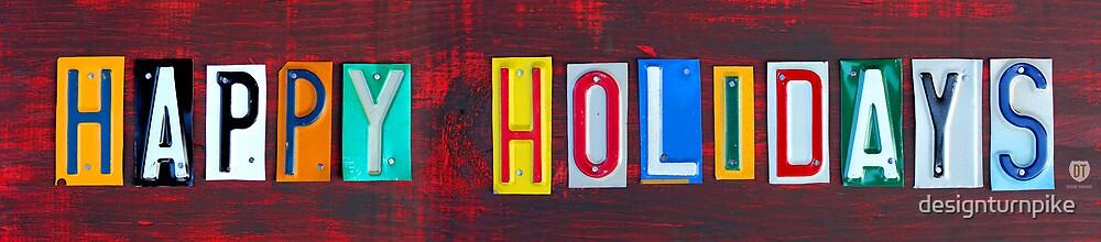 Happy Holidays License Plate Art by designturnpike