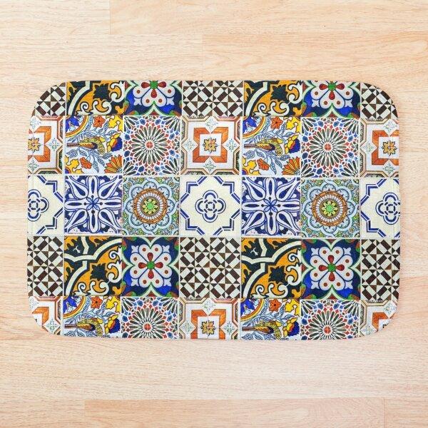 Colorful Portuguese Tile Bath Mat
