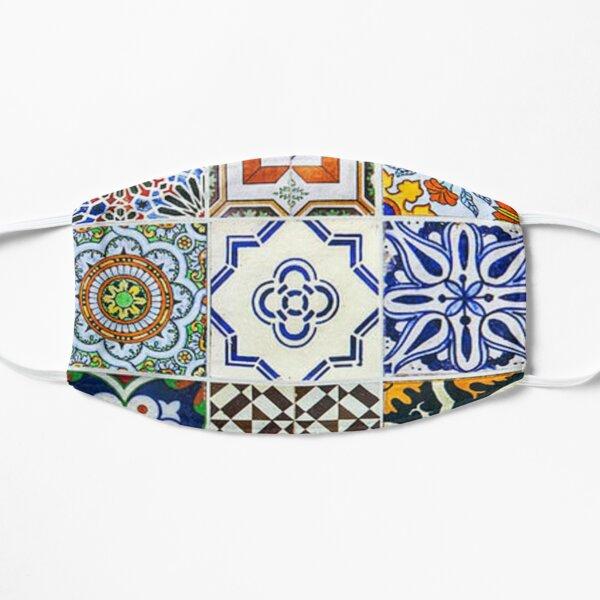 Colorful Portuguese Tile Flat Mask
