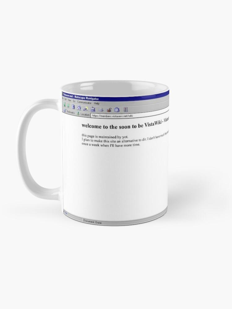 Alternate view of wiki on Vistaserv.net Mug