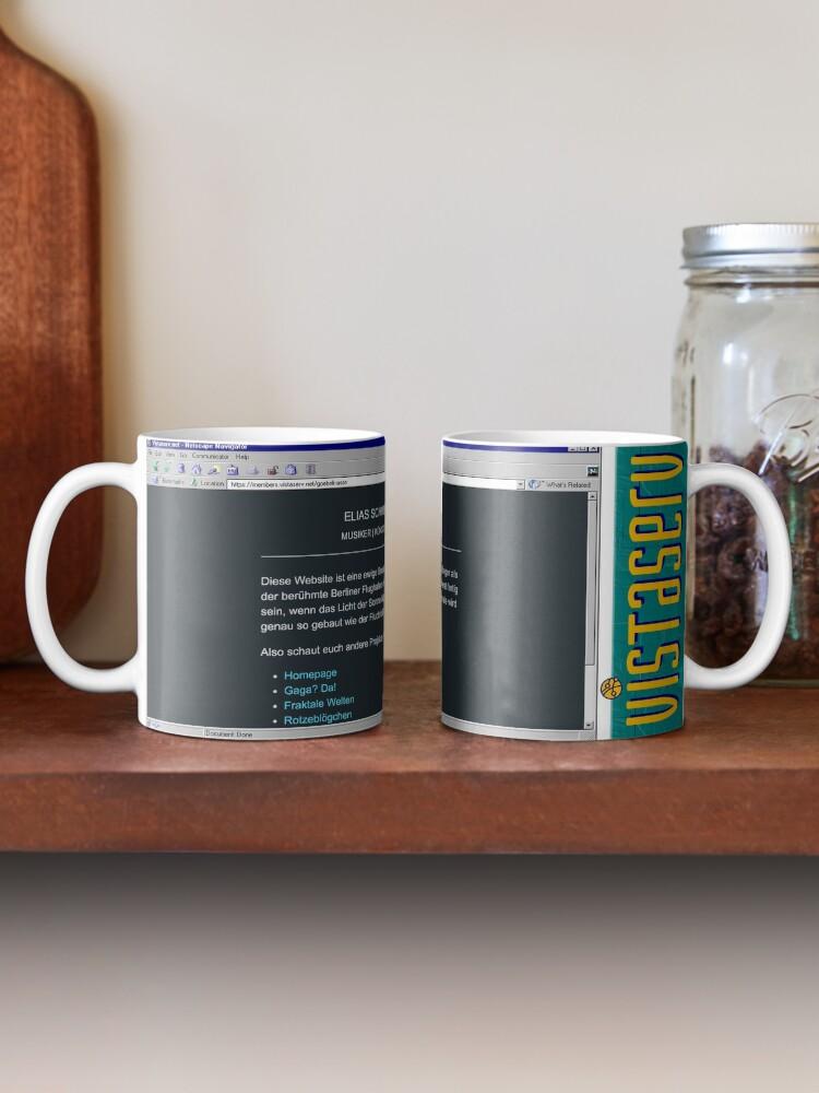 A mug with a screenshot of goebelmasse's home page on it